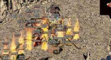 传奇sf网中法师利用走位和火墙面对战士